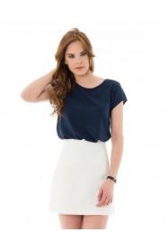 Dolgun Yanak Mavi T-Shirt