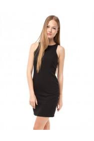 Siyah Şifon Detaylı Elbise