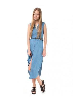 Sum SL Uzun Denim Elbise